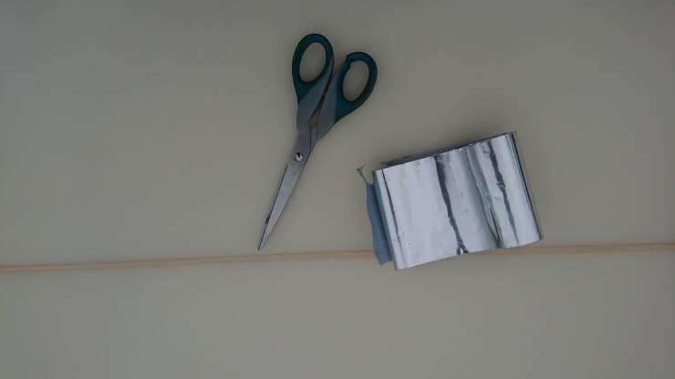 リペアテープを使った応急処置に使う道具
